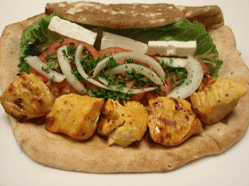 Chicken Kabob Sandwich